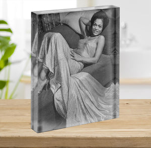 Eartha Kitt singer Acrylic Block - Canvas Art Rocks - 2