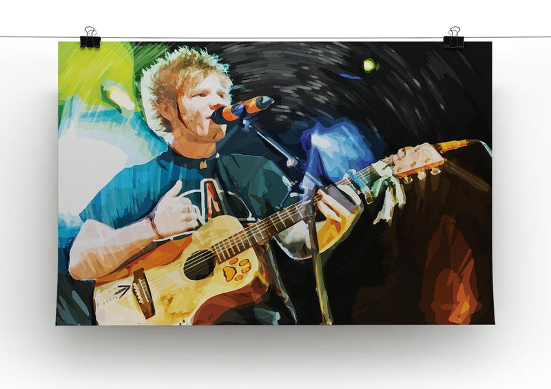 Ed Sheeran Print - Canvas Art Rocks - 2
