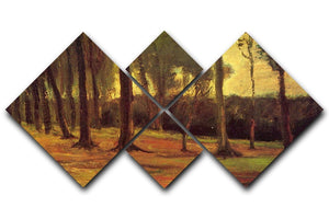 Edge of a Wood by Van Gogh 4 Square Multi Panel Canvas  - Canvas Art Rocks - 1