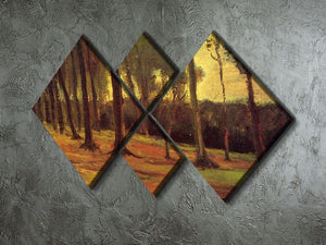 Edge of a Wood by Van Gogh 4 Square Multi Panel Canvas - Canvas Art Rocks - 2