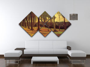 Edge of a Wood by Van Gogh 4 Square Multi Panel Canvas - Canvas Art Rocks - 3