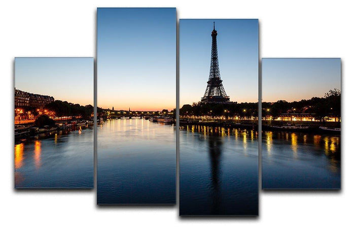 Eiffel Tower and d 4 Split Panel Canvas