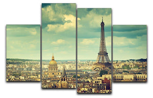 Eiffel tower Paris France 4 Split Panel Canvas  - Canvas Art Rocks - 1