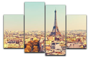 Eiffel tower at sunset 4 Split Panel Canvas  - Canvas Art Rocks - 1