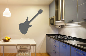 Electric Guitar Version 2 Wall Decal - Canvas Art Rocks