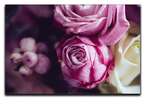 Elegant bouquet of pink and white roses Canvas Print or Poster  - Canvas Art Rocks - 1
