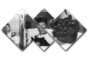 Ella Fitzgerald 2 4 Square Multi Panel Canvas - Canvas Art Rocks - 1