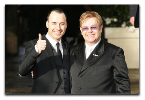 Elton John and David Furnish Canvas Print or Poster  - Canvas Art Rocks - 1