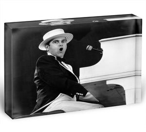 Elton John at Wembley 1984 Acrylic Block - Canvas Art Rocks - 1