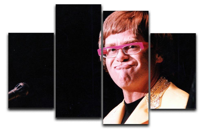 Elton John at Wembley 1992 4 Split Panel Canvas