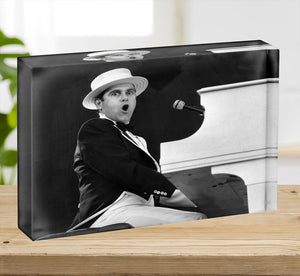 Elton John at the piano Acrylic Block - Canvas Art Rocks - 2