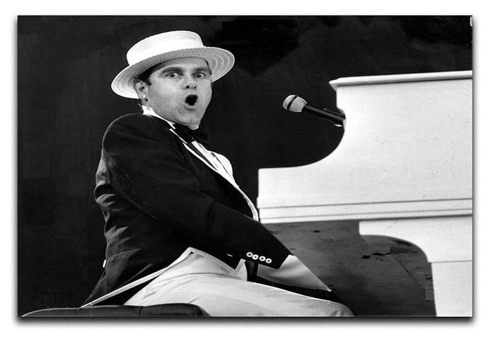 Elton John at the piano Canvas Print or Poster