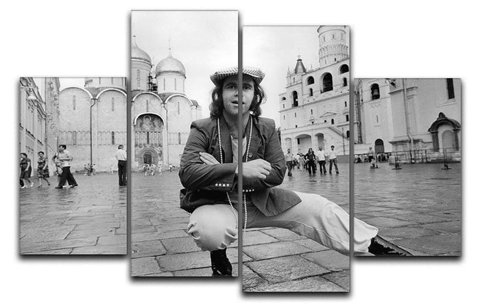 Elton John in Red Square 4 Split Panel Canvas