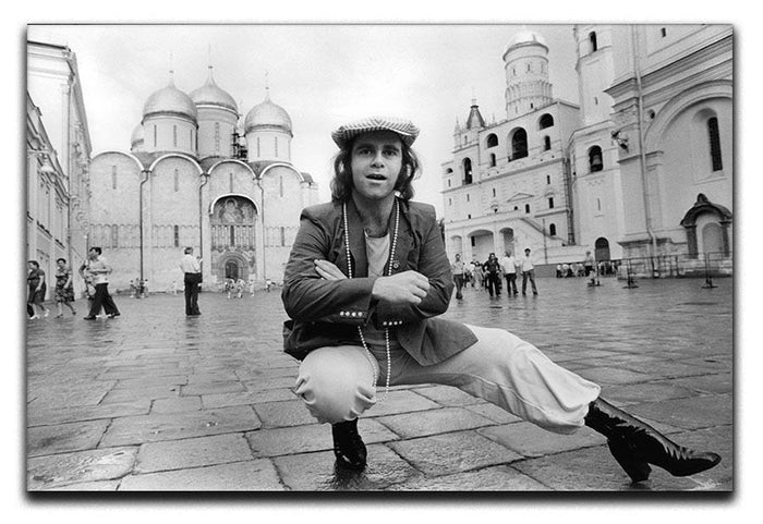 Elton John in Red Square Canvas Print or Poster