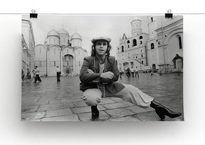 Elton John in Red Square Canvas Print or Poster - Canvas Art Rocks - 2