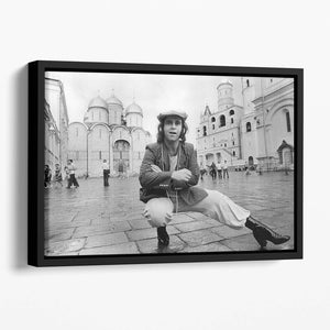 Elton John in Red Square Floating Framed Canvas