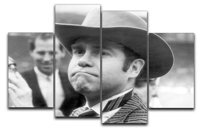 Elton John in a Hat 4 Split Panel Canvas