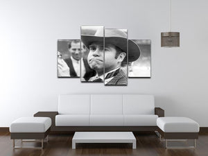 Elton John in a Hat 4 Split Panel Canvas  - Canvas Art Rocks - 3