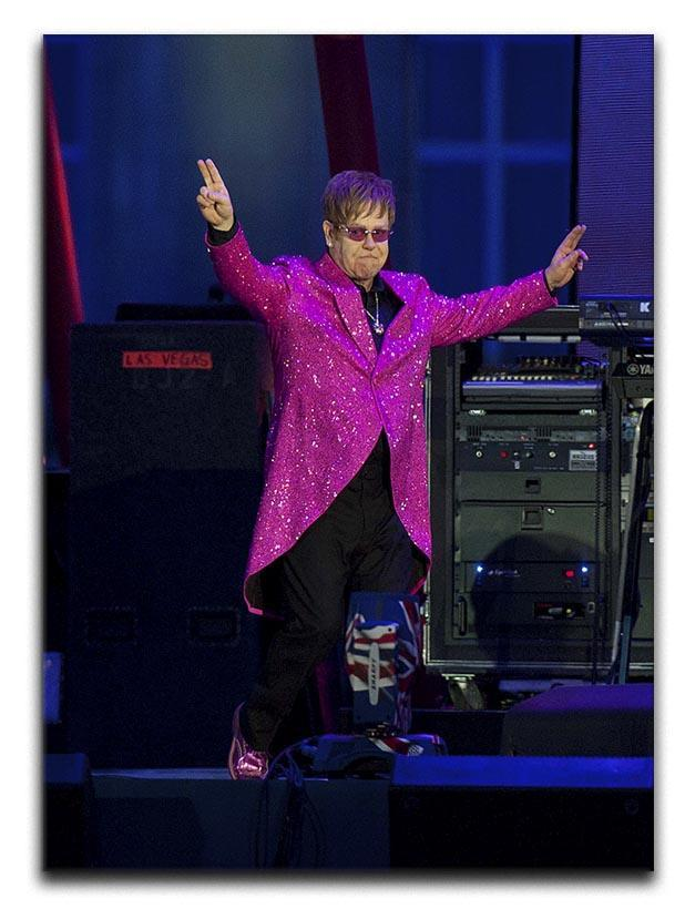Elton John in concert Canvas Print or Poster