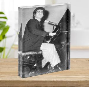 Elton John onstage 1978 Acrylic Block - Canvas Art Rocks - 2