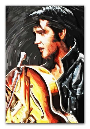 Elvis Presley Comeback Special Print - Canvas Art Rocks - 1