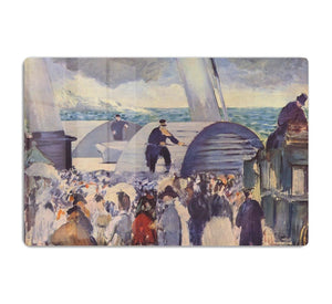 Embarkation after Folkestone by Manet HD Metal Print