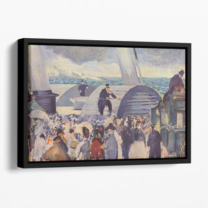 Embarkation of the Folkestone by Manet Floating Framed Canvas