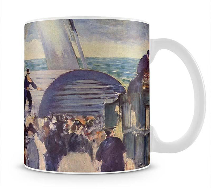 Embarkation of the Folkestone by Manet Mug