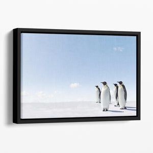 Emperor Penguins in Antacrctica Floating Framed Canvas - Canvas Art Rocks - 1