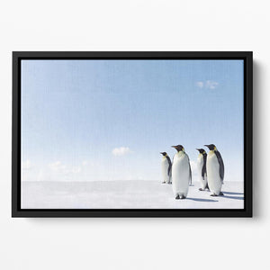 Emperor Penguins in Antacrctica Floating Framed Canvas - Canvas Art Rocks - 2