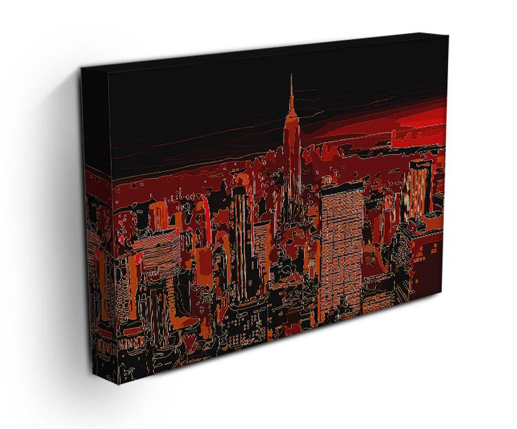 Empire State Building At Night Print - Canvas Art Rocks - 3