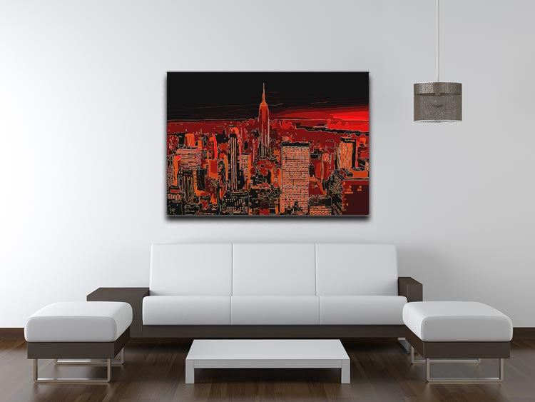 Empire State Building At Night Print - Canvas Art Rocks - 4
