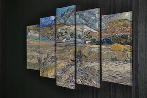 Enclosed Field with Peasant 5 Split Panel Canvas - Canvas Art Rocks - 2