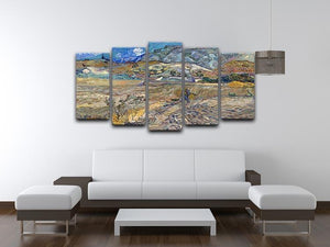 Enclosed Field with Peasant 5 Split Panel Canvas - Canvas Art Rocks - 3