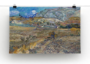 Enclosed Field with Peasant Canvas Print & Poster - Canvas Art Rocks - 2