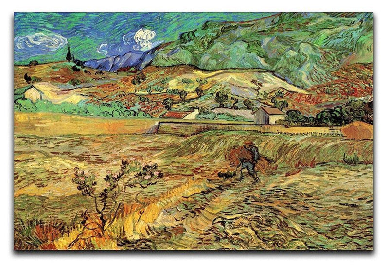 Enclosed Wheat Field with Peasant by Van Gogh Canvas Print & Poster  - Canvas Art Rocks - 1