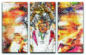 England Rugby World Cup Win 2003 3 Split Panel Canvas Print - Canvas Art Rocks - 1