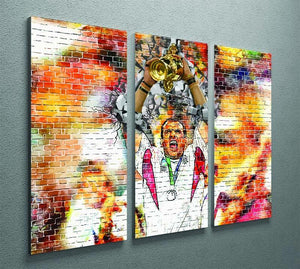England Rugby World Cup Win 2003 3 Split Panel Canvas Print - Canvas Art Rocks - 2