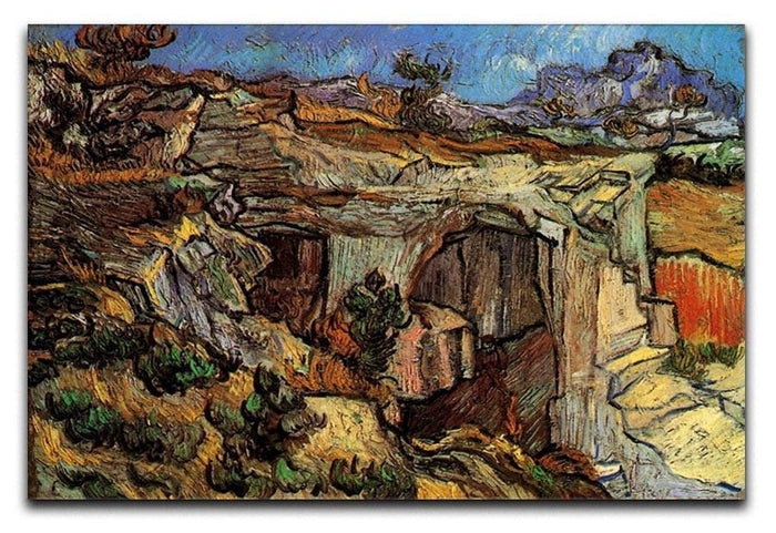 Entrance to a Quarry near Saint-Remy by Van Gogh Canvas Print or Poster