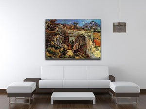 Entrance to a Quarry near Saint-Remy by Van Gogh Canvas Print & Poster - Canvas Art Rocks - 4