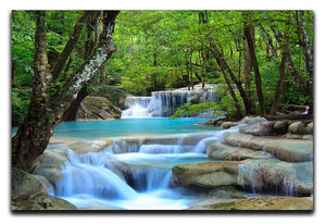 Erawan Waterfall Canvas Print or Poster  - Canvas Art Rocks - 1