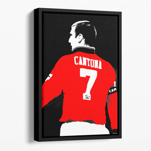 Eric Cantona No 7 Floating Framed Canvas