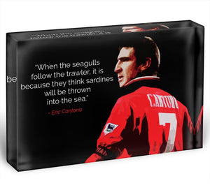 Eric Cantona Seagulls Acrylic Block - Canvas Art Rocks - 1
