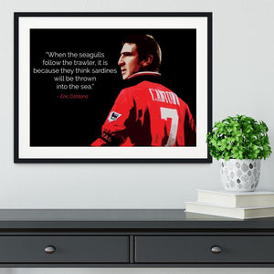 Eric Cantona Seagulls Framed Print - Canvas Art Rocks - 1