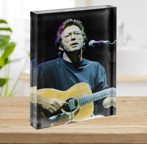 Eric Clapton live Acrylic Block - Canvas Art Rocks - 2