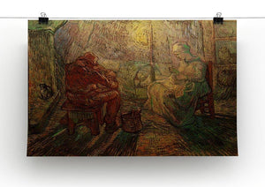 Evening The Watch after Millet by Van Gogh Canvas Print & Poster - Canvas Art Rocks - 2