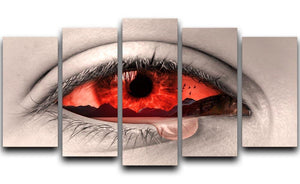 Eye Of Nature 5 Split Panel Canvas  - Canvas Art Rocks - 1