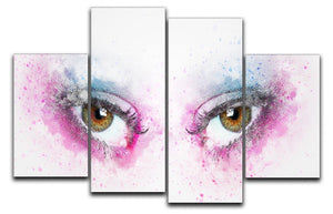 Eye Painting 4 Split Panel Canvas  - Canvas Art Rocks - 1