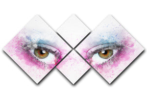 Eye Painting 4 Square Multi Panel Canvas  - Canvas Art Rocks - 1