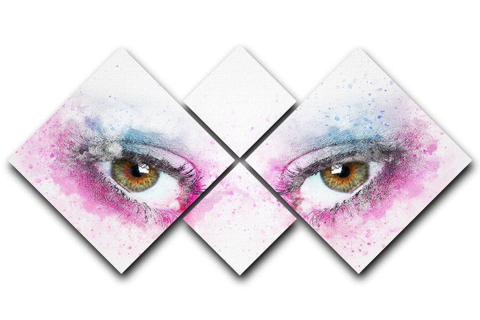 Eye Painting 4 Square Multi Panel Canvas